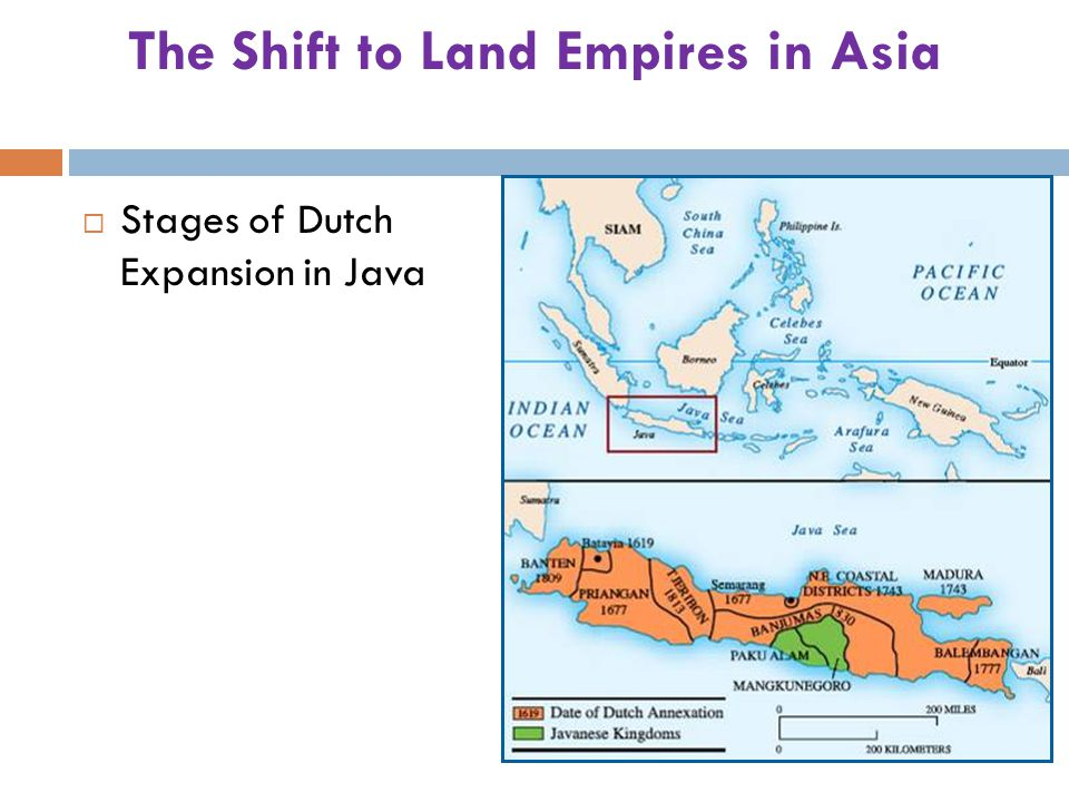 The Shift to Land Empires in Asia