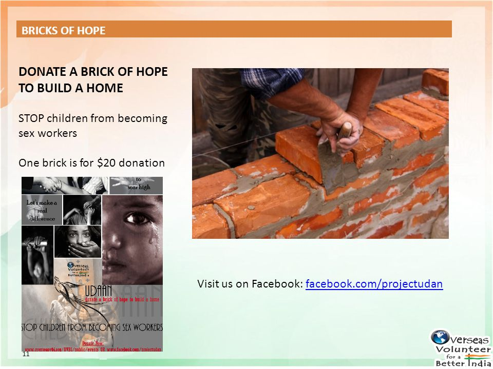 DONATE A BRICK OF HOPE TO BUILD A HOME