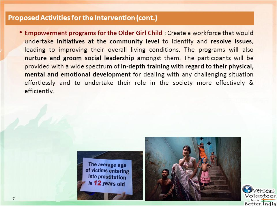 Proposed Activities for the Intervention (cont.)