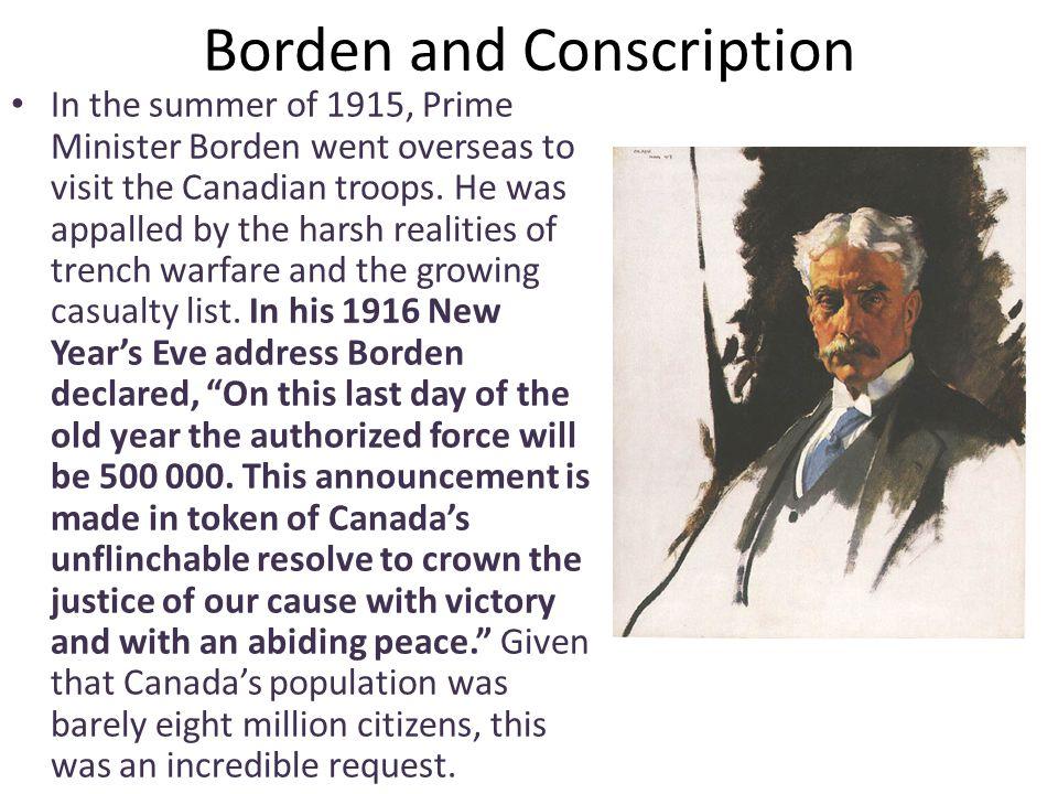 Borden and Conscription