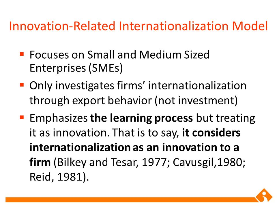 Innovation-Related Internationalization Model