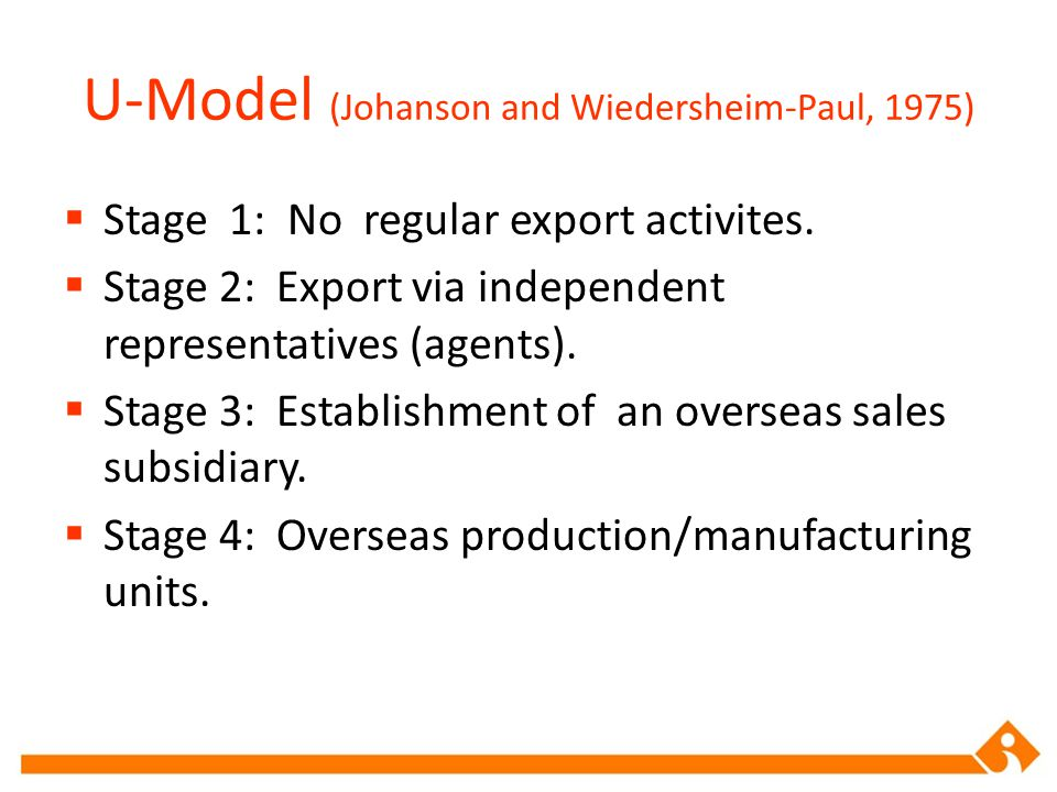 U-Model (Johanson and Wiedersheim-Paul, 1975)