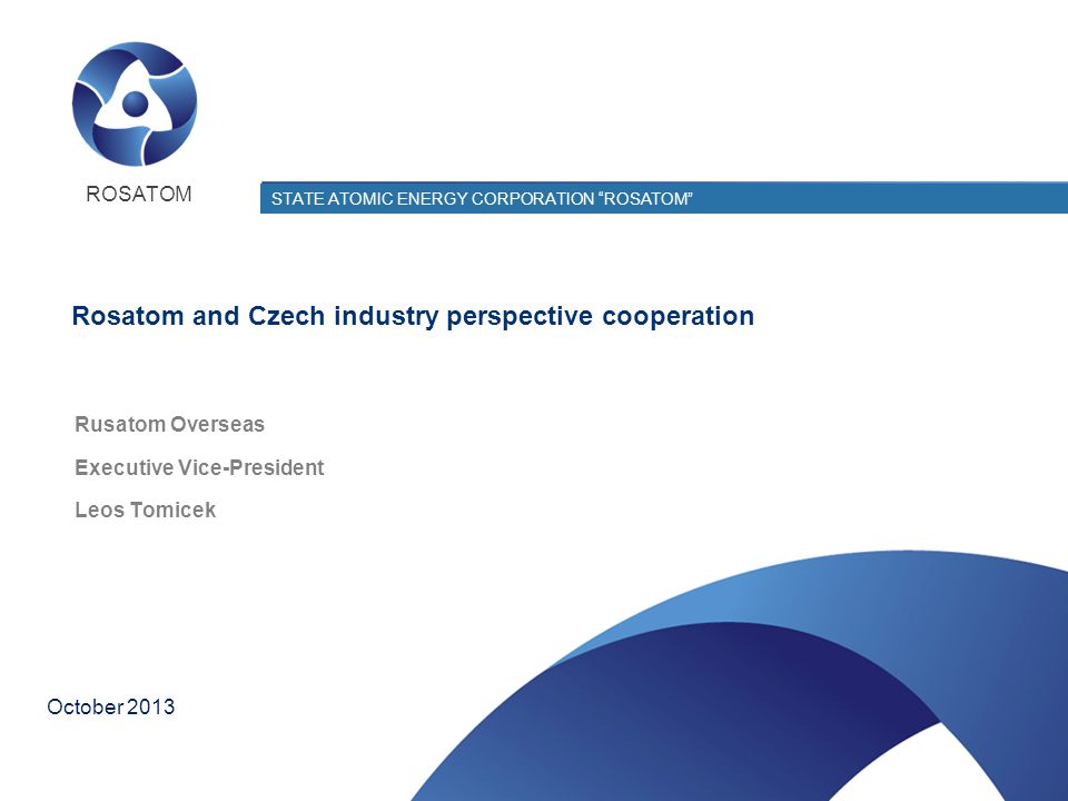 Rosatom and Czech industry perspective cooperation