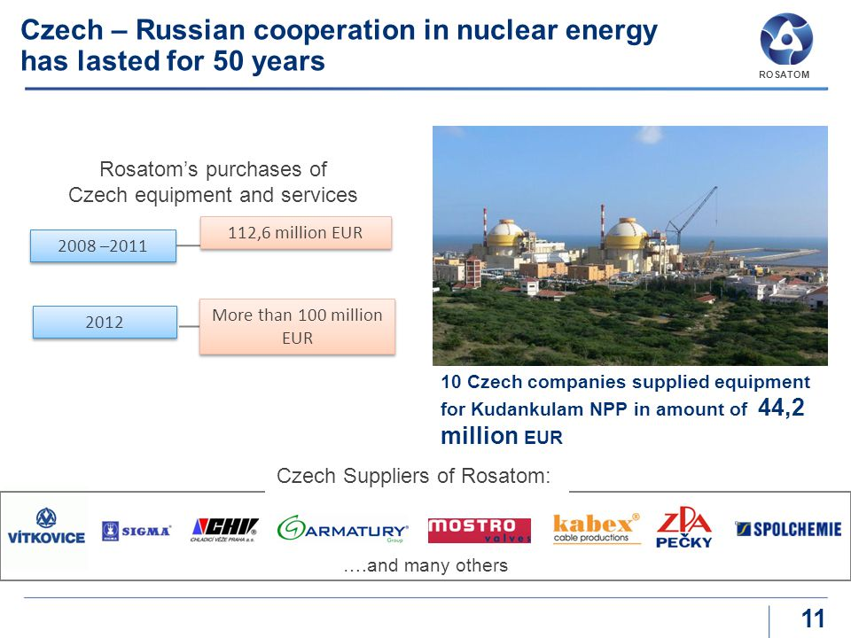 Czech – Russian cooperation in nuclear energy has lasted for 50 years