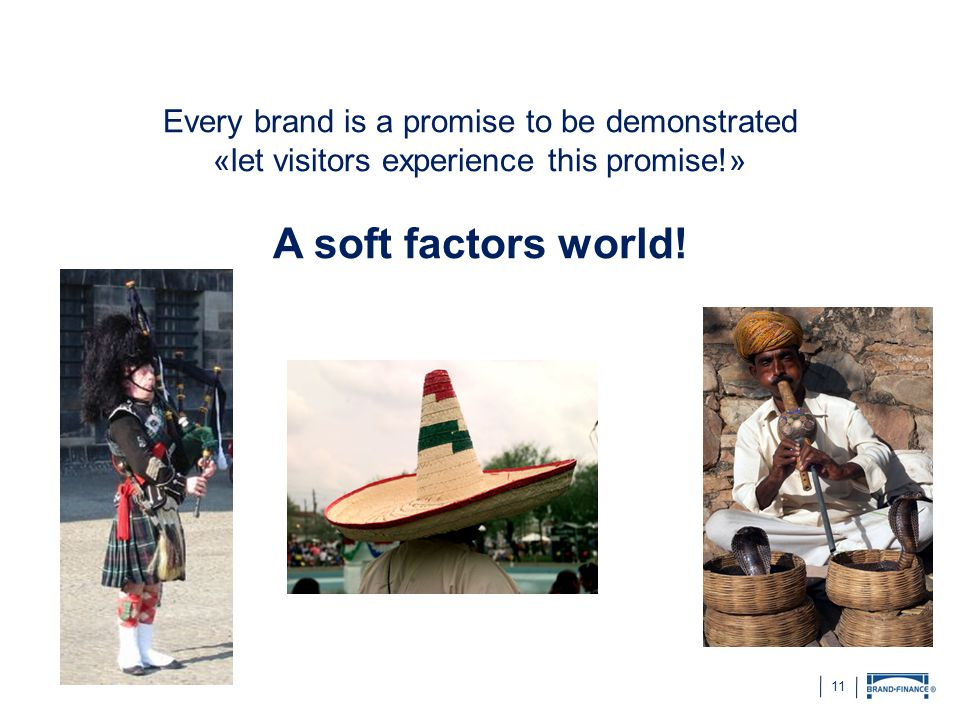 A soft factors world! Every brand is a promise to be demonstrated
