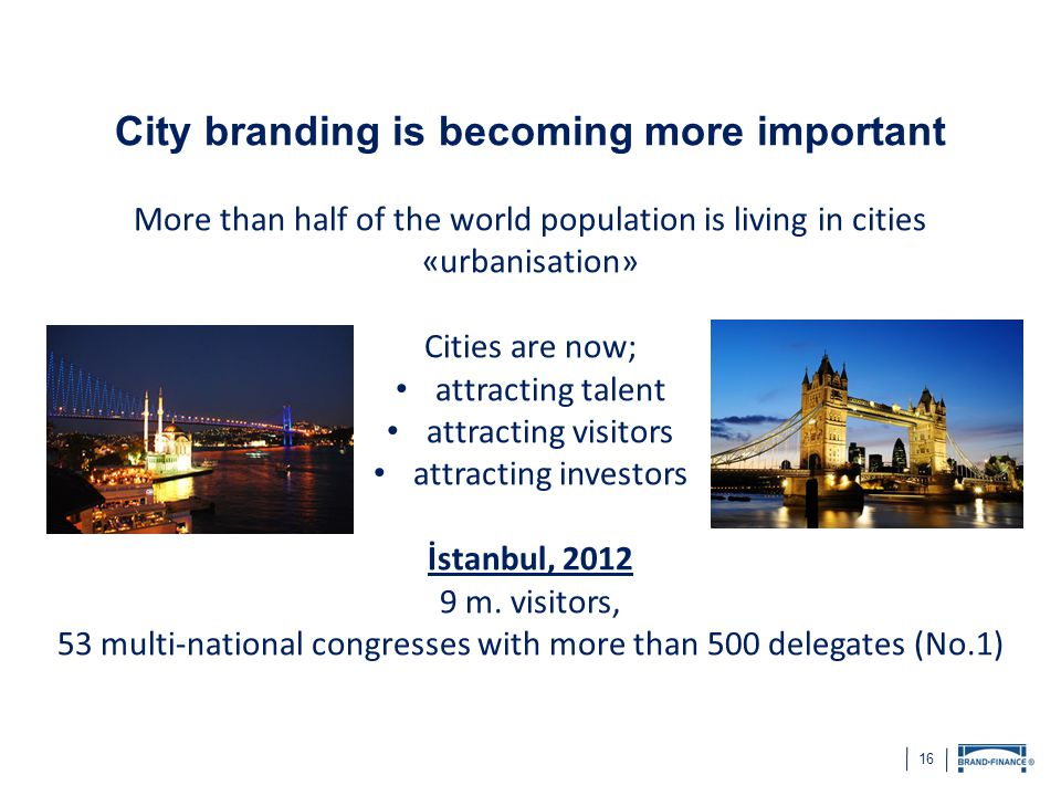City branding is becoming more important