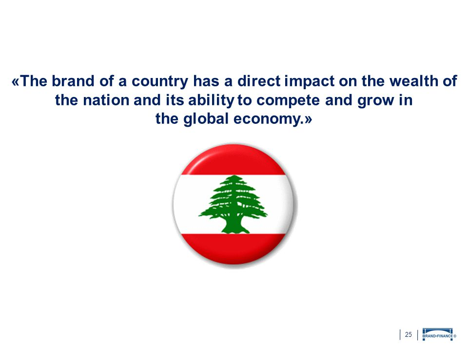 «The brand of a country has a direct impact on the wealth of the nation and its ability to compete and grow in