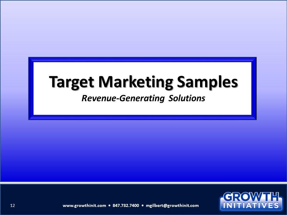Target Marketing Samples Revenue-Generating Solutions