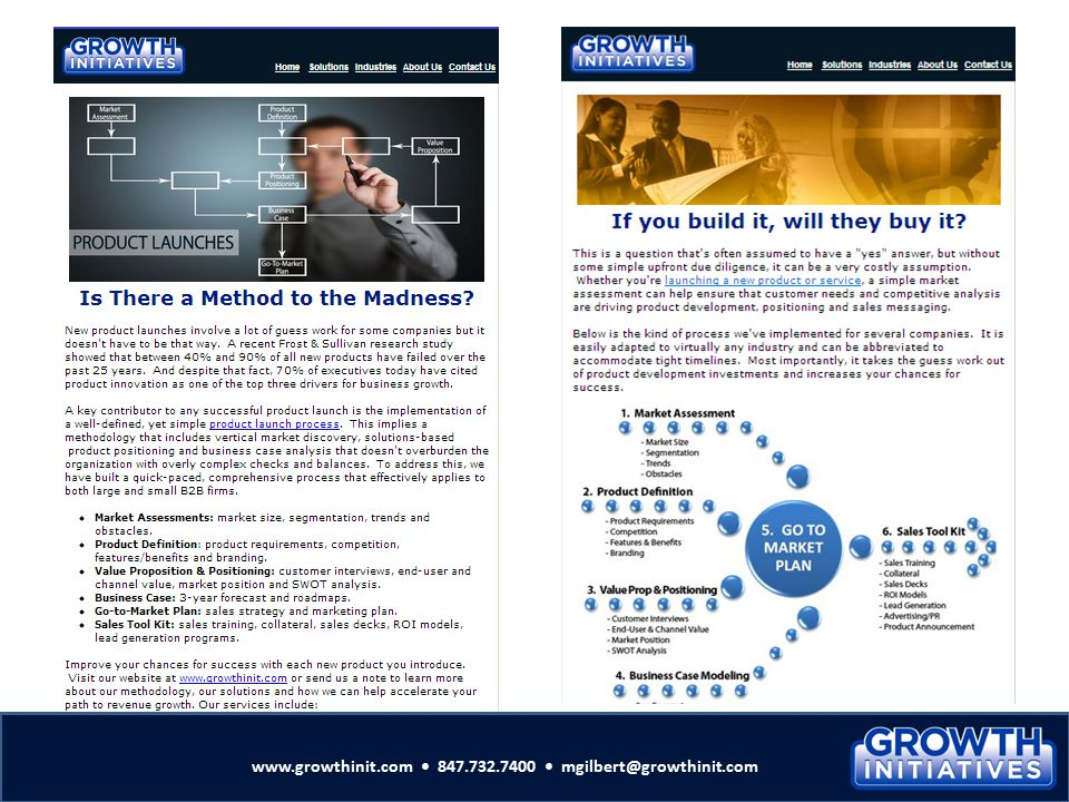 www.growthinit.com • 847.732.7400 • mgilbert@growthinit.com
