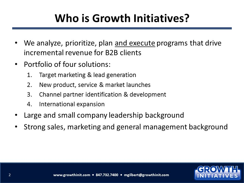 Who is Growth Initiatives
