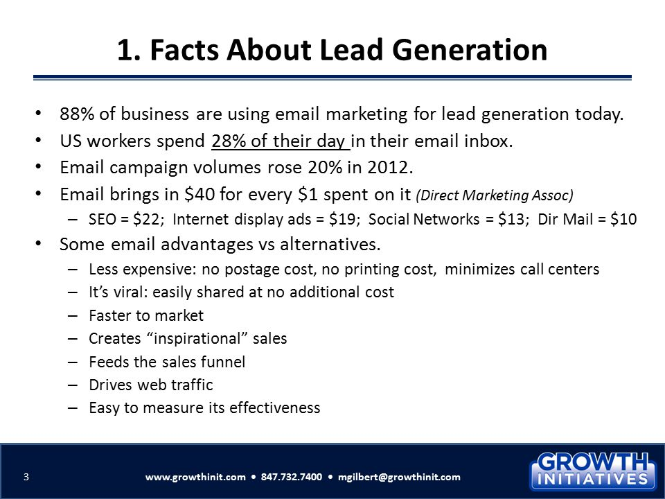 1. Facts About Lead Generation