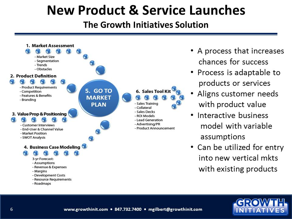 New Product & Service Launches The Growth Initiatives Solution