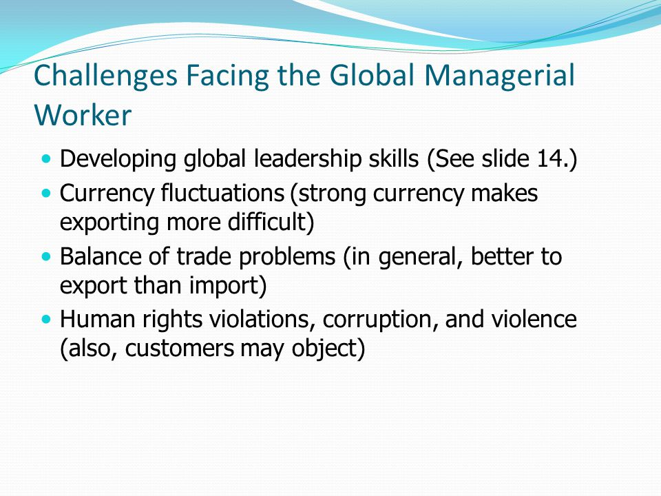 Challenges Facing the Global Managerial Worker