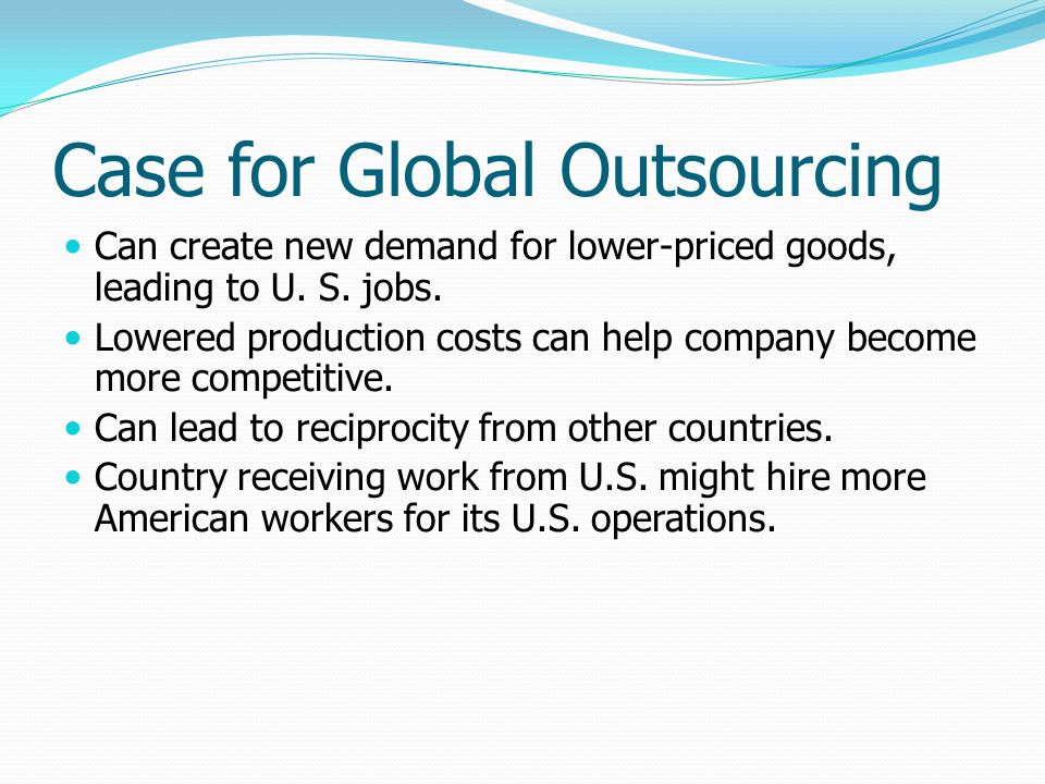 Case for Global Outsourcing