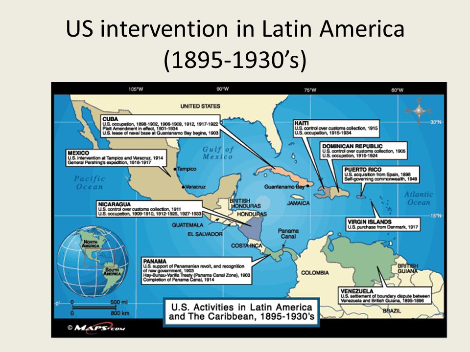 US intervention in Latin America (1895-1930's)