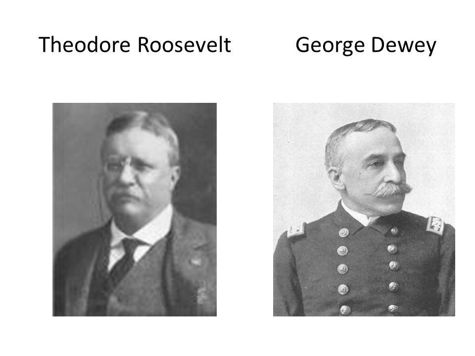 Theodore Roosevelt George Dewey