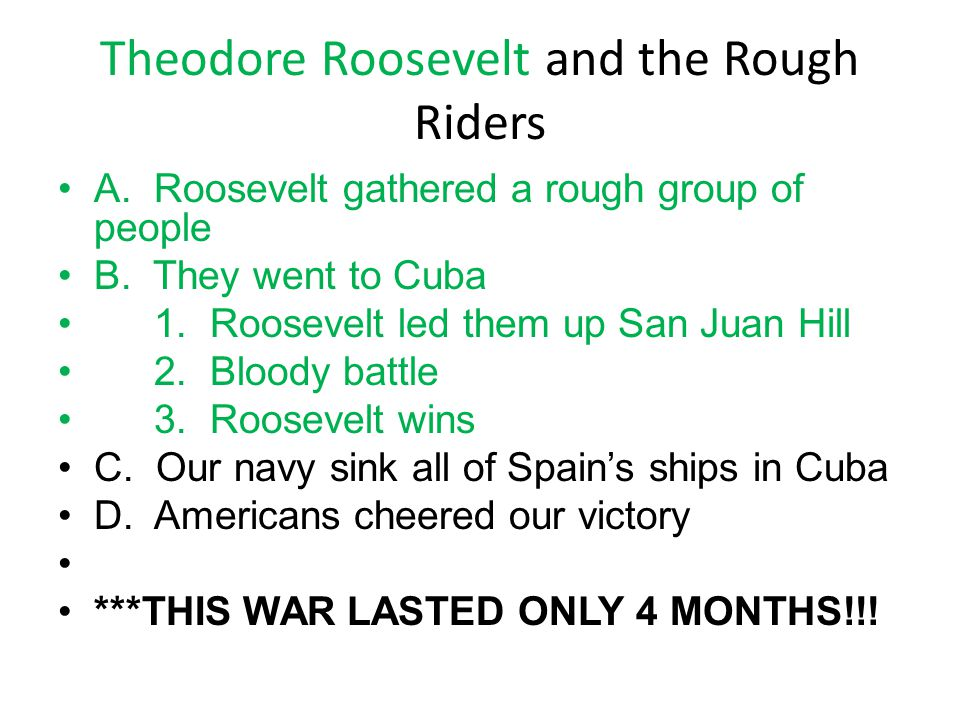 Theodore Roosevelt and the Rough Riders