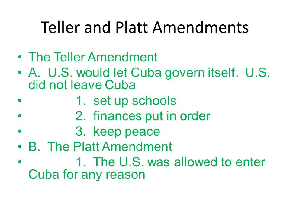 Teller and Platt Amendments