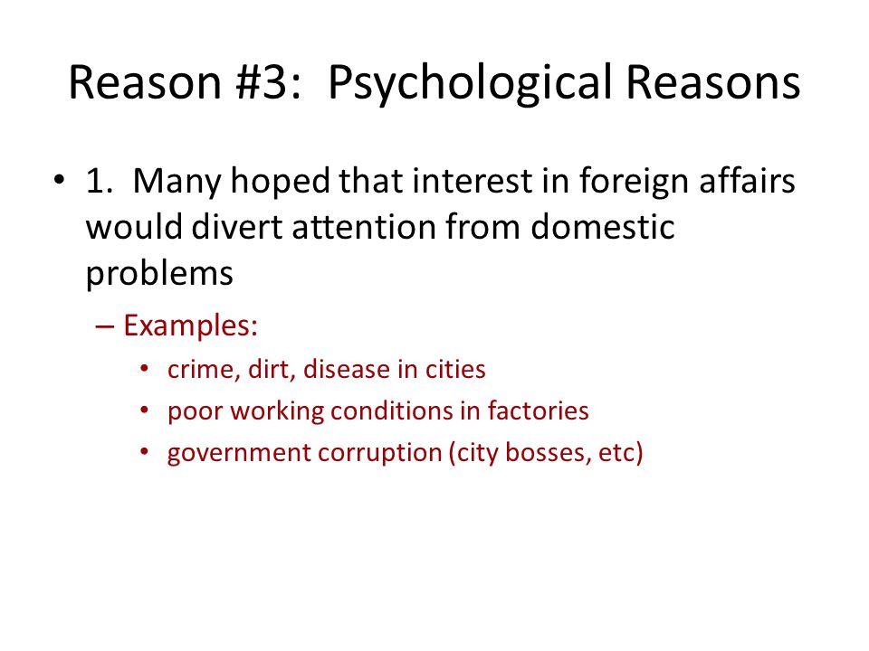 Reason #3: Psychological Reasons