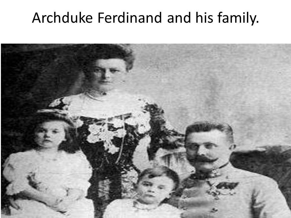 Archduke Ferdinand and his family.