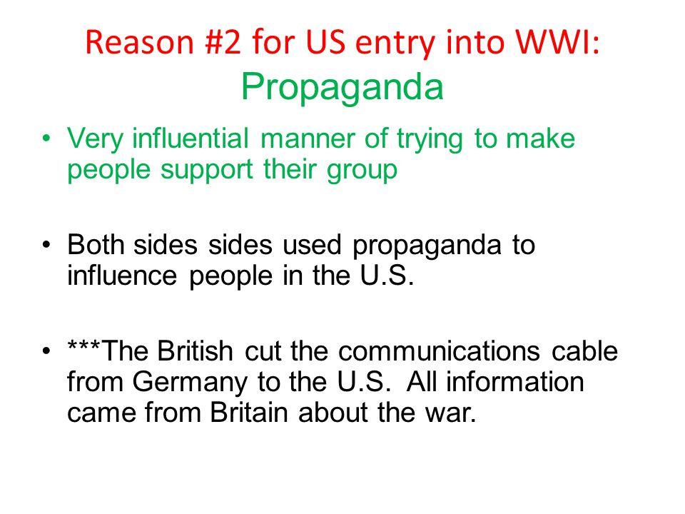 Reason #2 for US entry into WWI: Propaganda