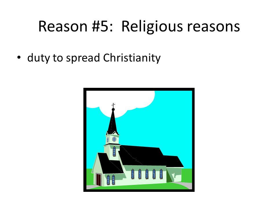 Reason #5: Religious reasons