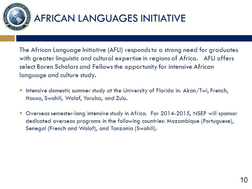 AFRICAN LANGUAGES INITIATIVE
