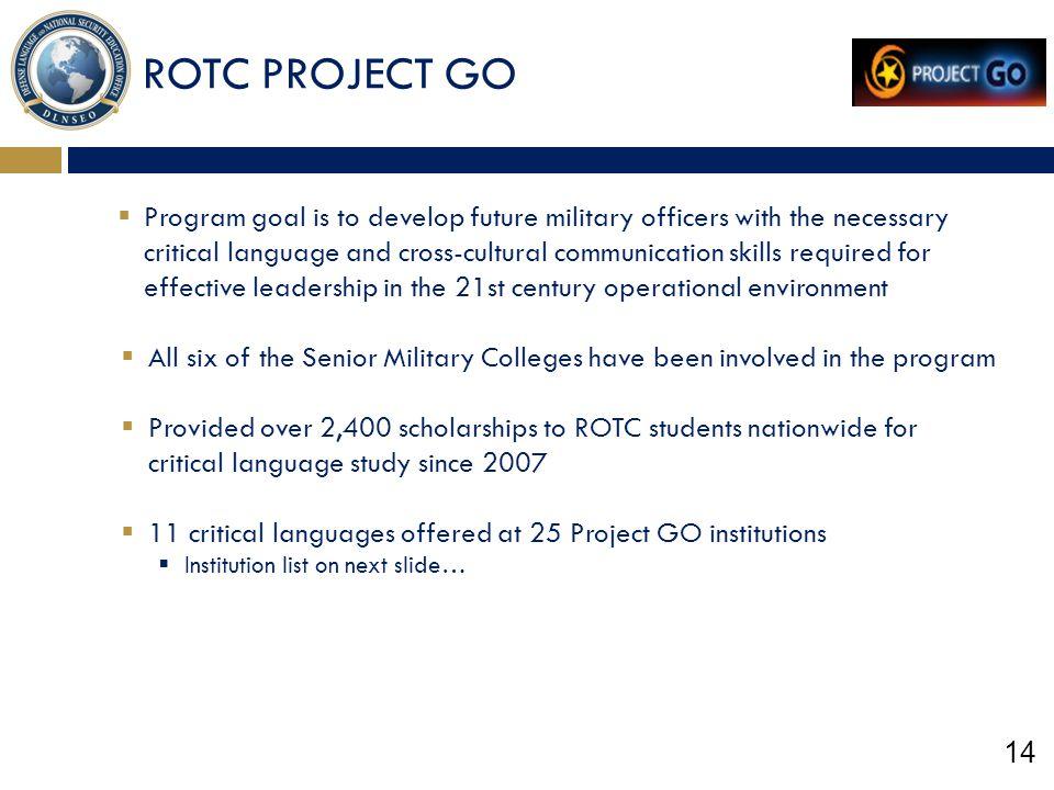 ROTC PROJECT GO