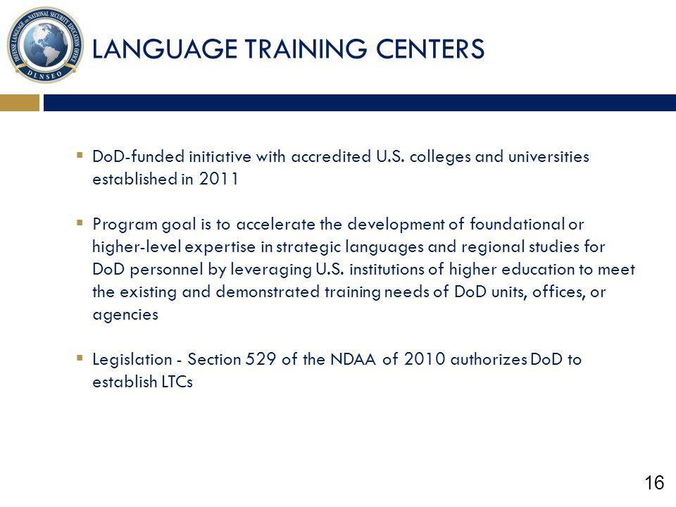 LANGUAGE TRAINING CENTERS