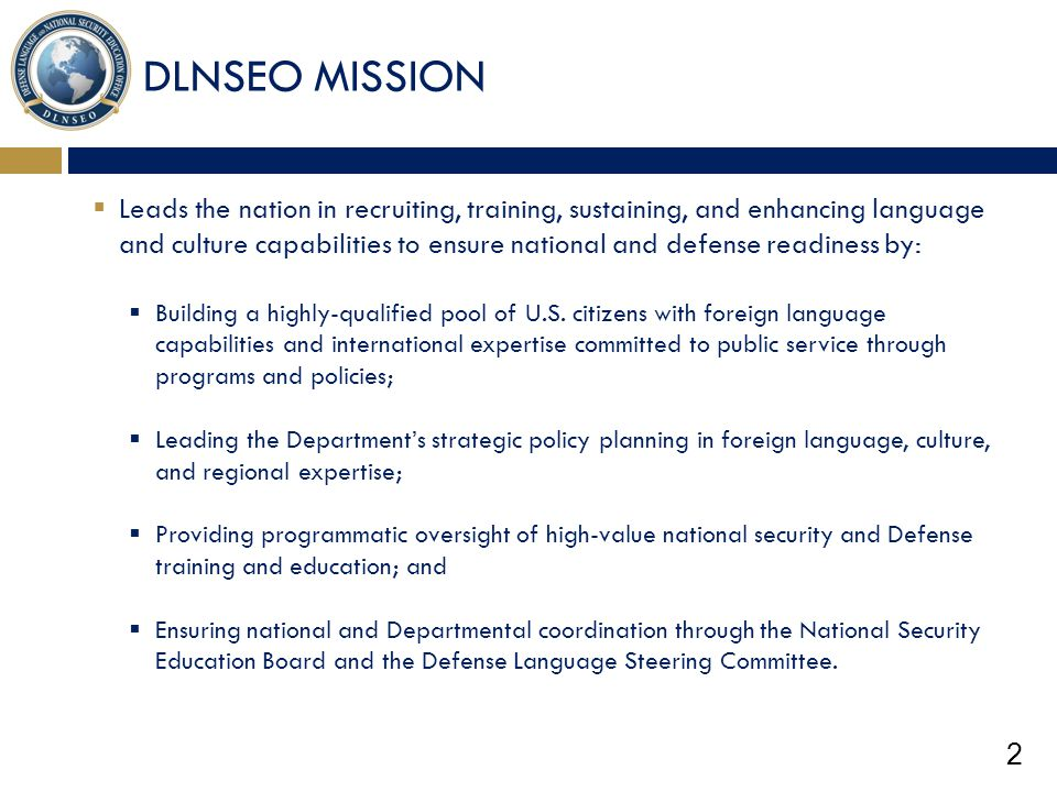 DLNSEO MISSION