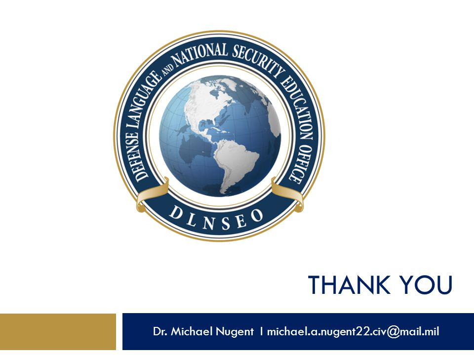 Dr. Michael Nugent I michael.a.nugent22.civ@mail.mil
