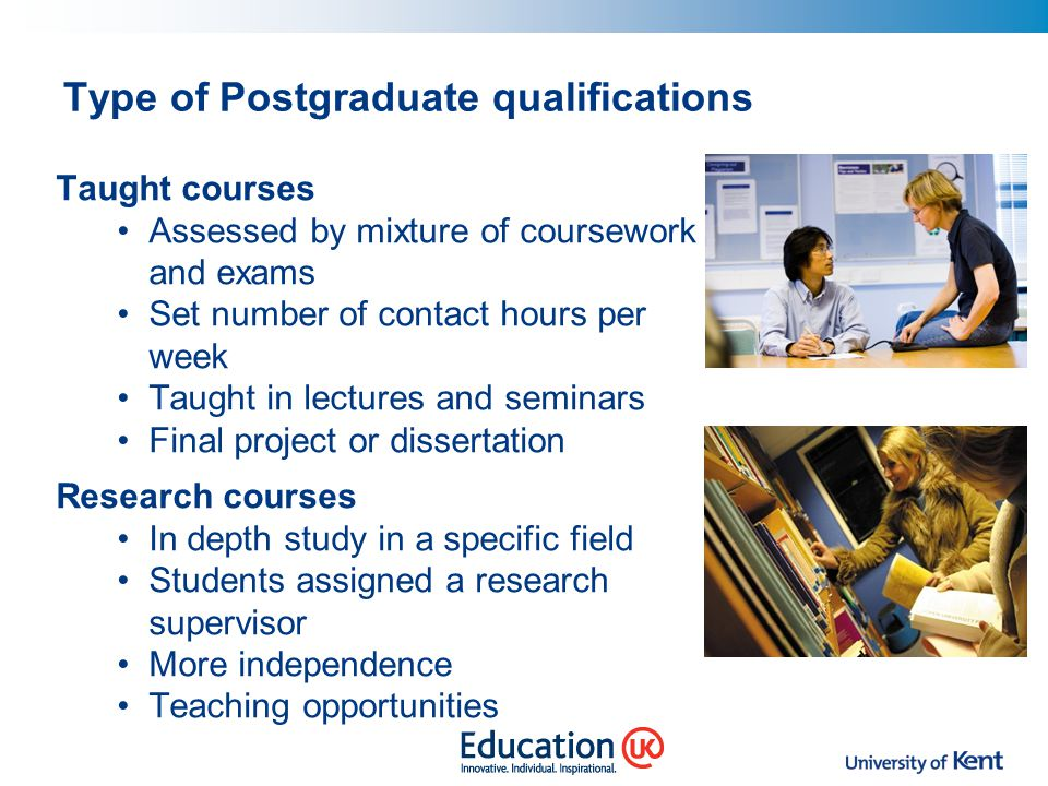 Type of Postgraduate qualifications