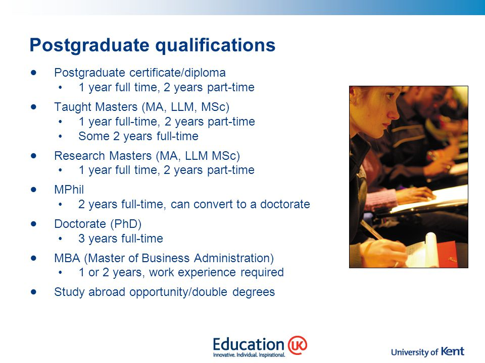 Postgraduate qualifications