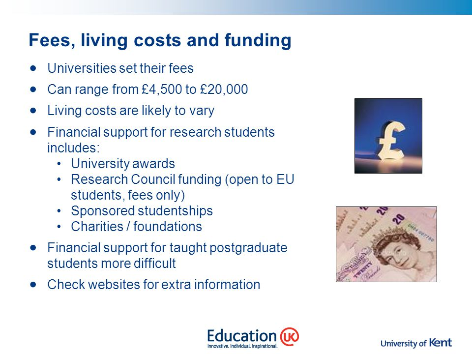 Fees, living costs and funding