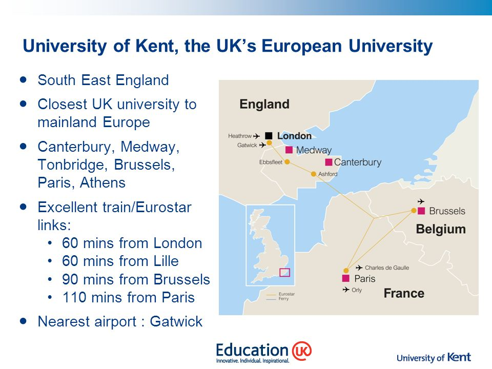 University of Kent, the UK's European University