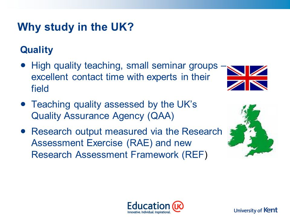 Why study in the UK Quality