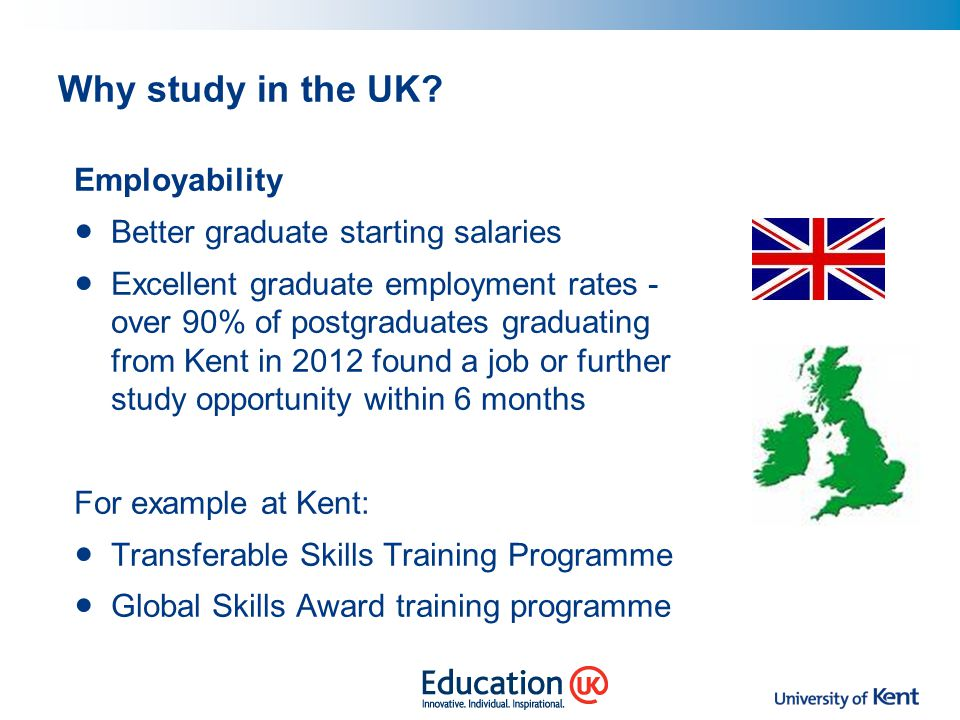 Why study in the UK Employability Better graduate starting salaries