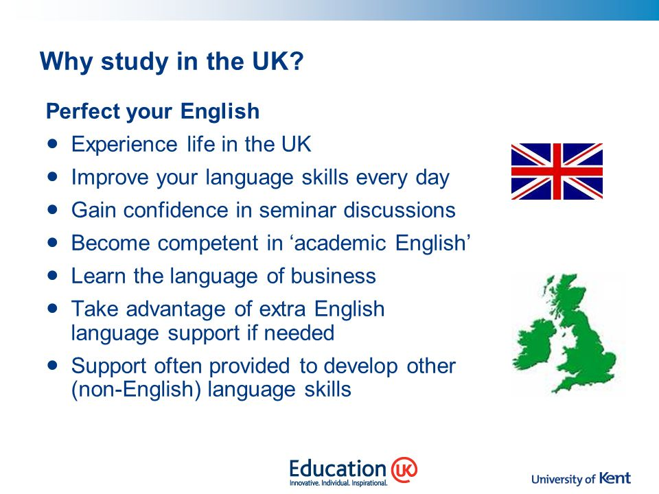 Why study in the UK Perfect your English Experience life in the UK