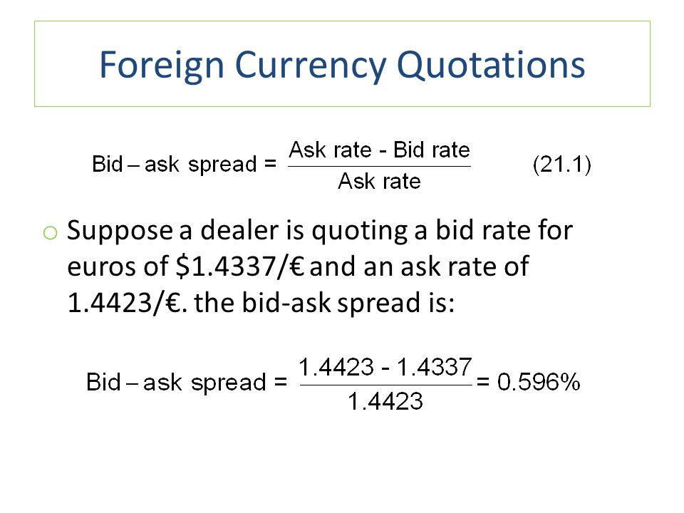 Foreign Currency Quotations