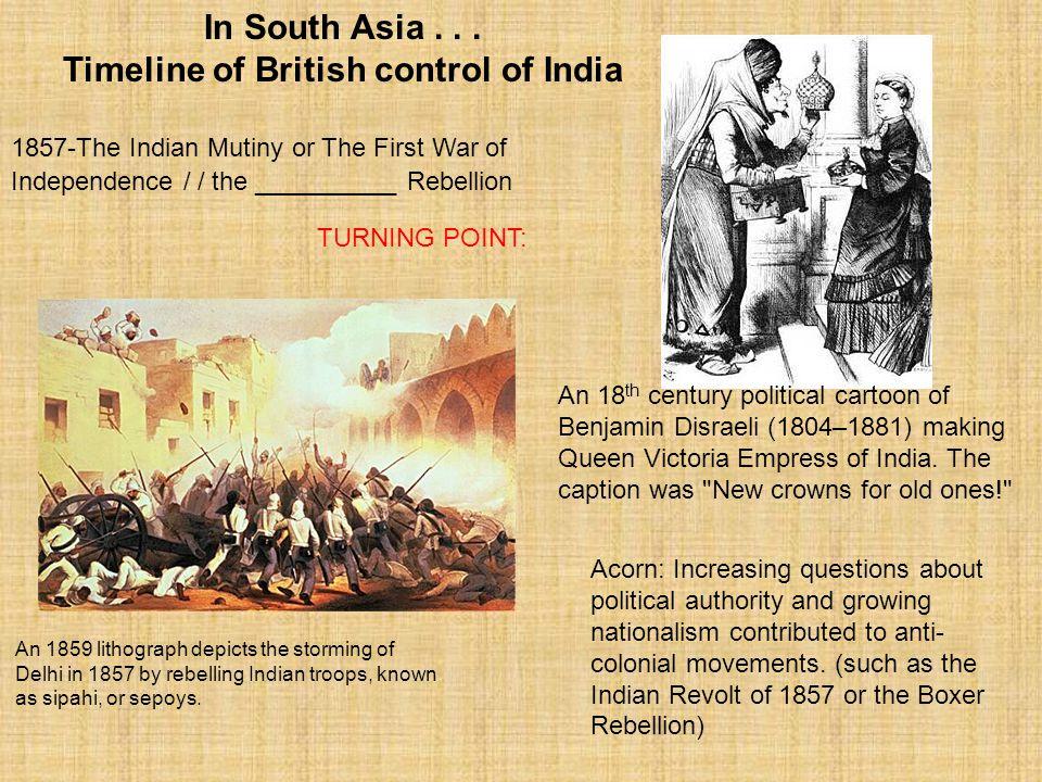 Timeline of British control of India
