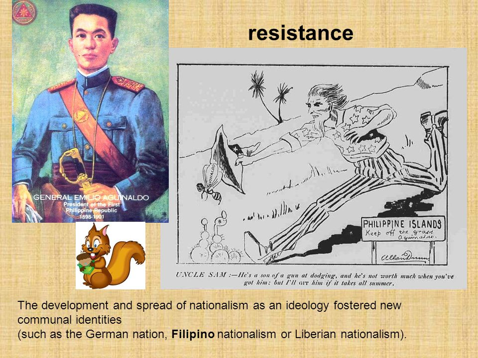 resistance The development and spread of nationalism as an ideology fostered new communal identities.