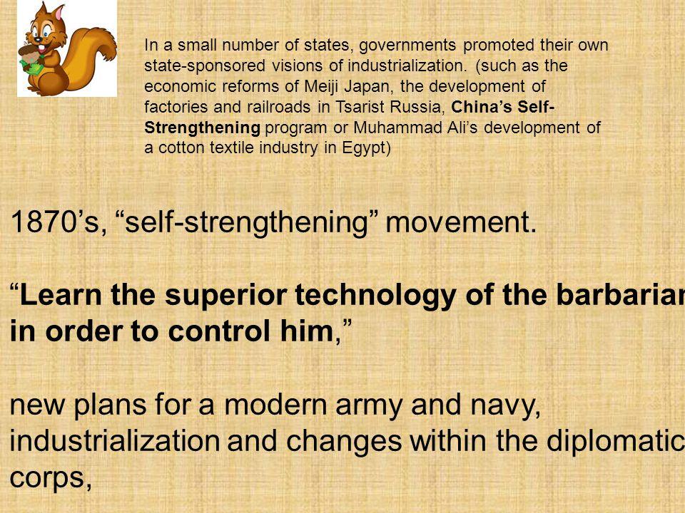 1870's, self-strengthening movement.