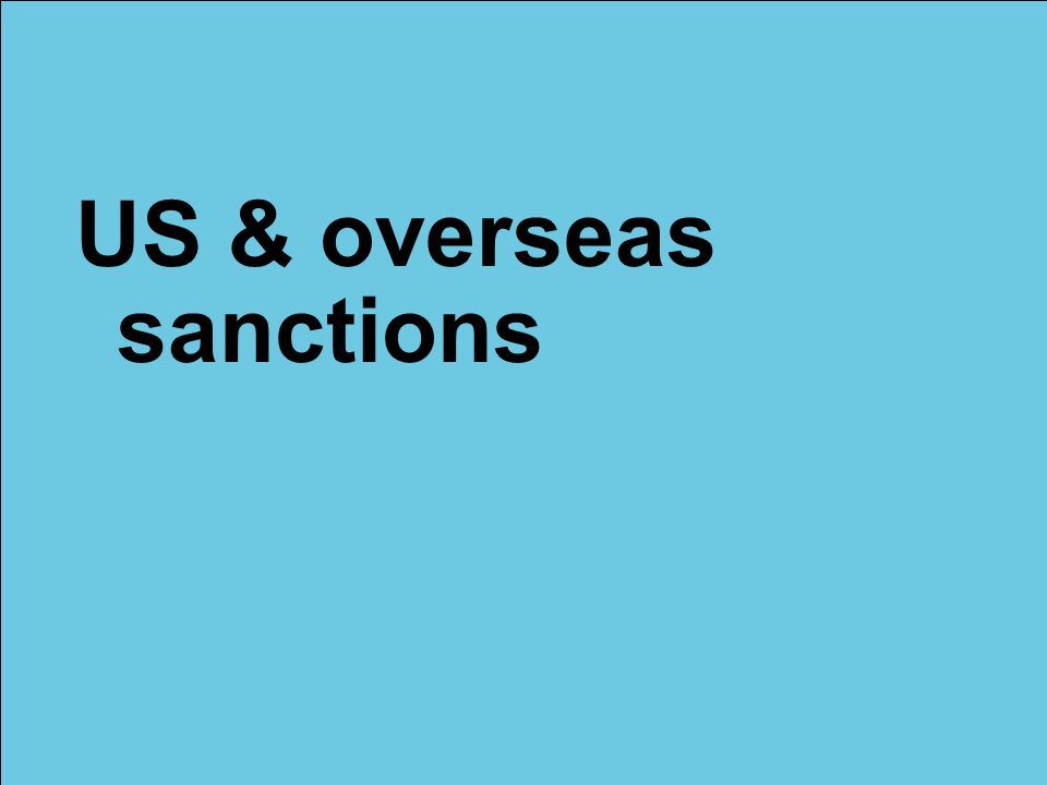 US & overseas sanctions
