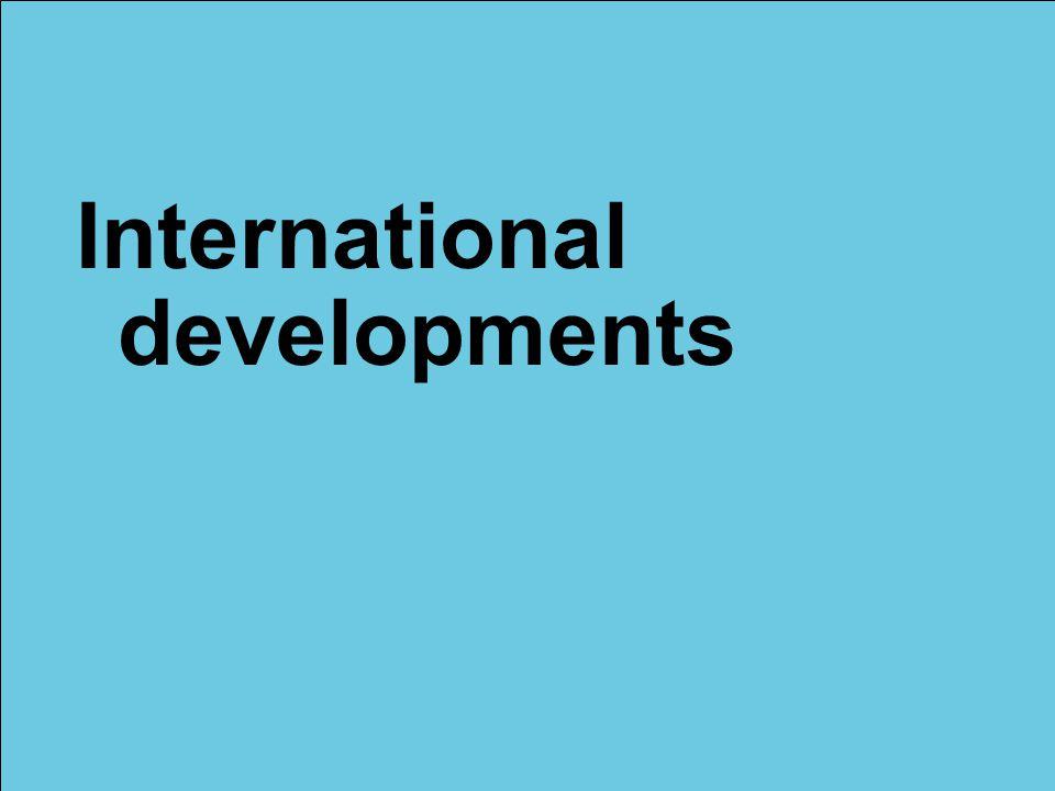 International developments