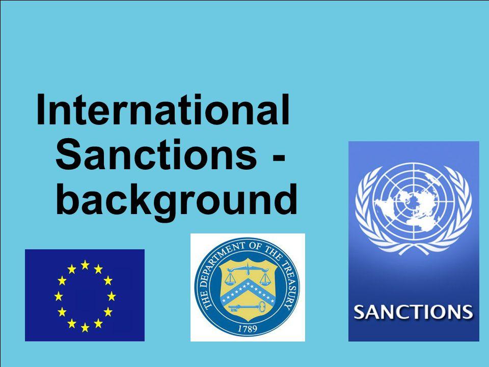 International Sanctions - background