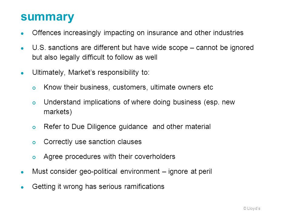 summary Offences increasingly impacting on insurance and other industries.