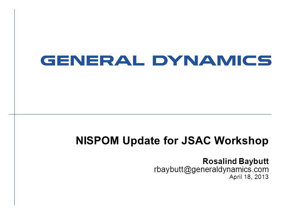 NISPOM Update for JSAC Workshop