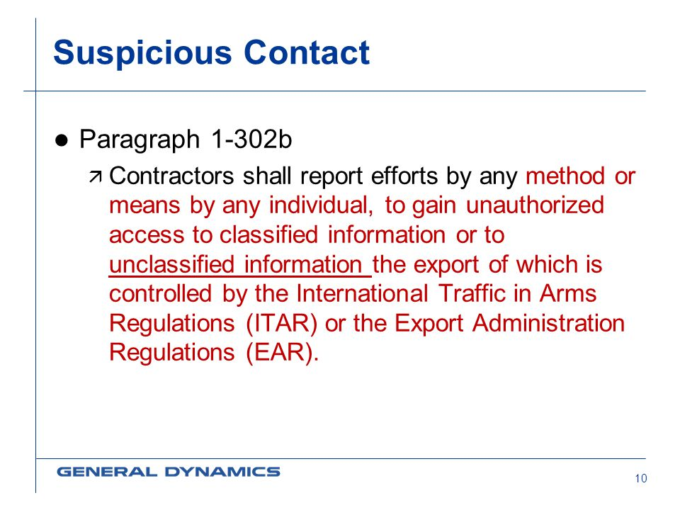 Suspicious Contact Paragraph 1-302b