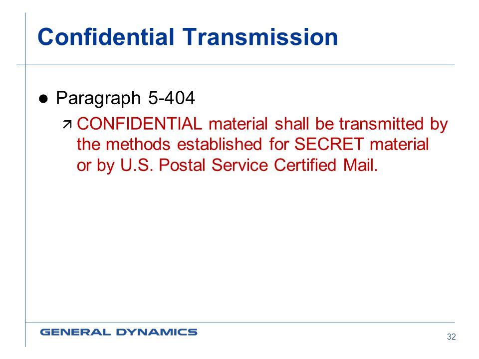 Confidential Transmission
