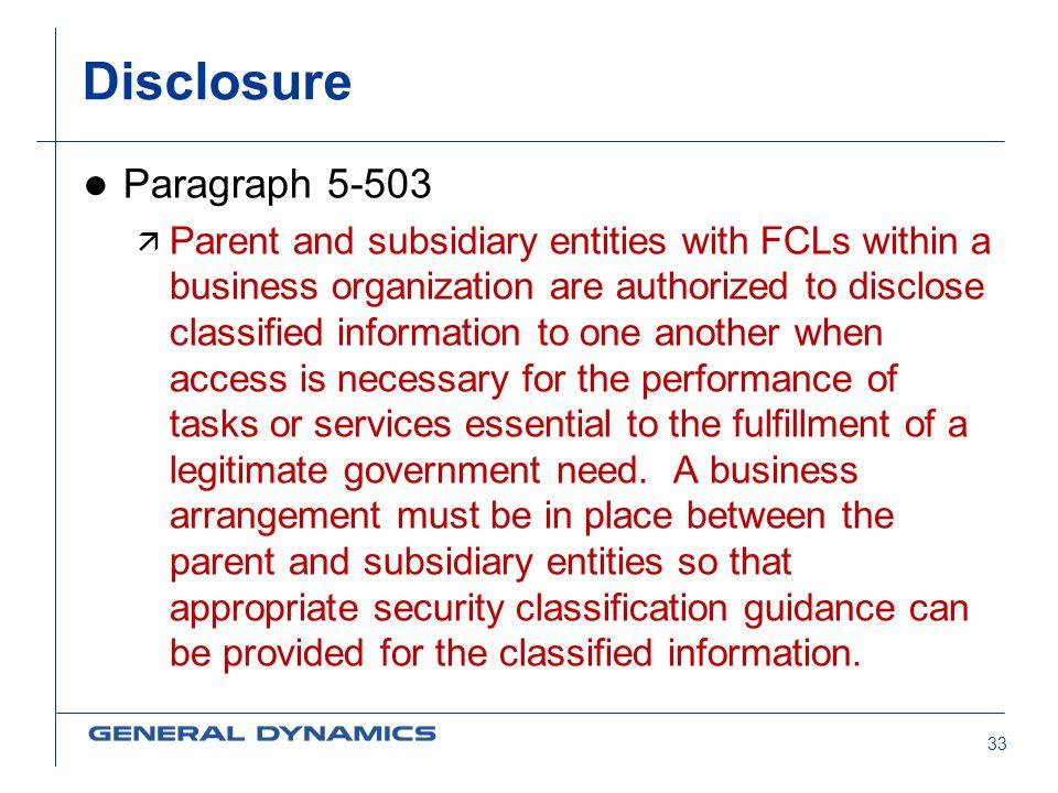 Disclosure Paragraph 5-503